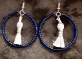 Dark Blue and Silver Hoops