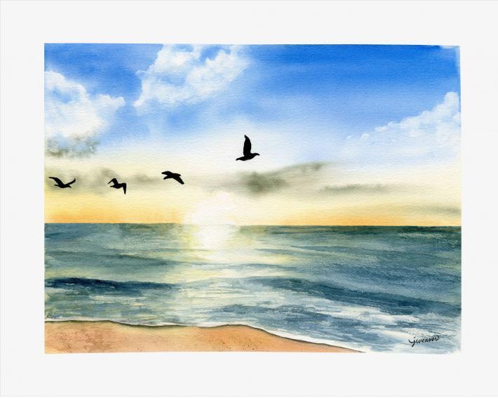Peaceful Sunset Print