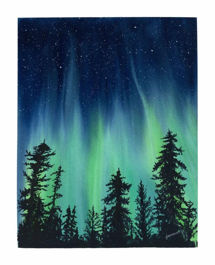 Northern Lights Print 1
