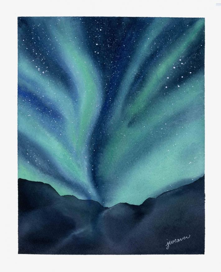 Northern Lights Print 2