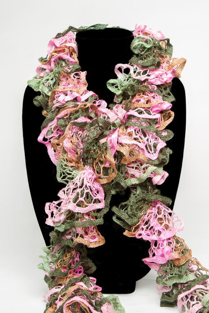 Knit Ruffle Scarf Pattern Starbella : Starbella Ruffle Scarf on Handmade Artists Shop