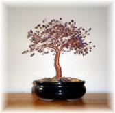 Amethyst Copper Wire Bonsai Tree