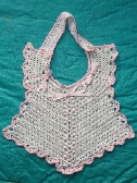 Baby Bib for Newborn w Pink Trim