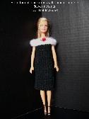 Barbie Doll Dress -Off-the-Shoulder Black Dress