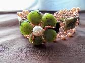 Copper n Jade Bracelet