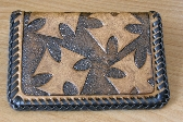Hand Tooled Leather Wallet or Business Card Holder