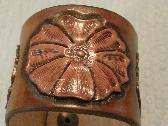 Custom Hand Tooled Leather Flower Bracelet