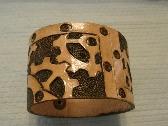 Steampunk Gears Leather Bracelet
