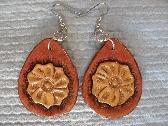 Western Flower Leather Earrings