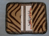 Hair on Hide Leather Business Card Holder or Wallet