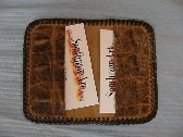 Gator Pattern Leather Business Card Holder or Wallet