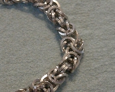 Square Stainless Steel Byzantine Chainmaille Bracelet