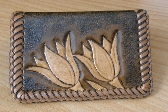 Tulip Leather Business Card Holder