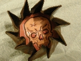 Pinwheel Leather Coin Pouch with Hidden Skull inside