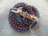 Blue and Red Biker Chainmaille Wallet Chain