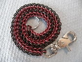 Black and Red Biker Chainmaille Wallet Chain