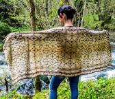 Gold Shamanic shipibo scarves in silk