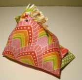 Whimsical Chicken Pin Cushion 4 Fabrics