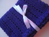 Amethyst baby blanket crochet