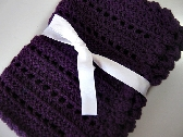 Deep purple baby blanket crochet