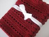 Burgundy baby blanket crochet