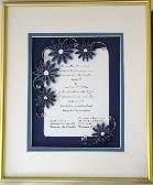 Quilled Wedding Invitation Keepsake Custom Framed