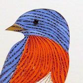 Bluebird Quilled and framed original wall art