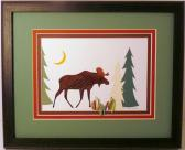 Quilled Moose framed wall art