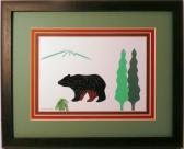 Quilled Bear framed wall art New Hampshire