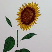 Sunflower quilled framed original wall art