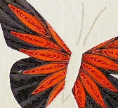 Quilled Monarch Butterfly framed wall art