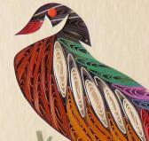 Quilled Wood Duck framed art