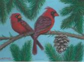 Perching Cardinals