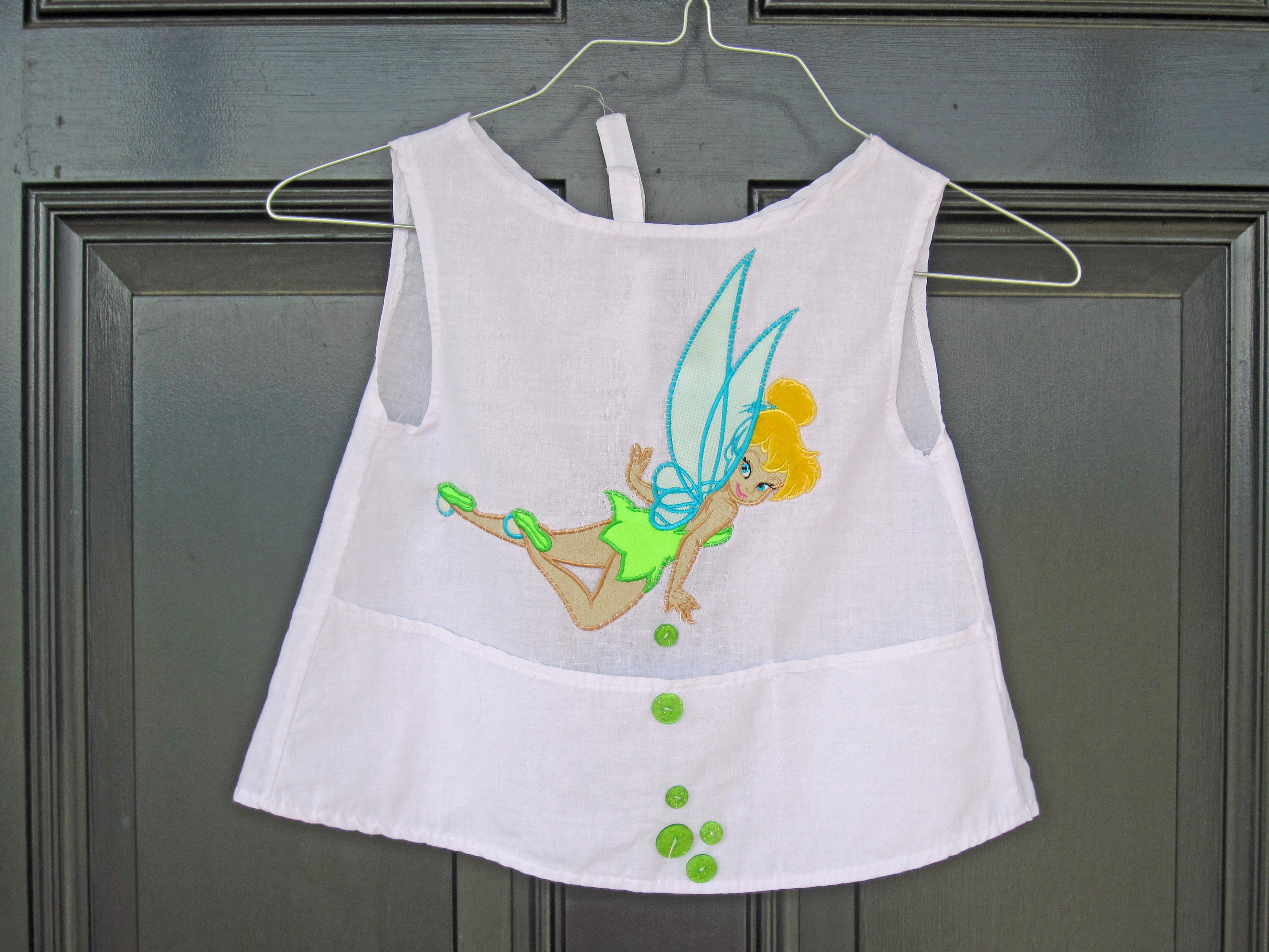 White apron.org - Cc Seahorse Tinkerbell Smock Apron