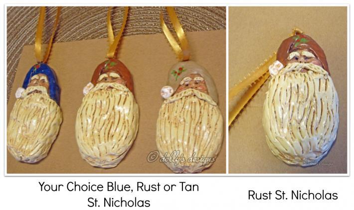 Handmade St Nicholas Clay Ornaments