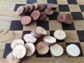 Hand Cut Twig Checkers free shipping