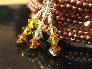 Snaky Swarovskis Memory Wire Bead Weave Bracelet