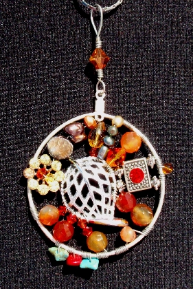 September Morn Suspension Series Wire Wrapped Pendant