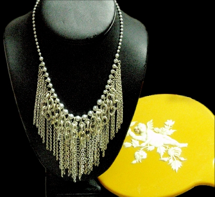 The Rock and Roll Chain Fringe Shabby Chic Necklace