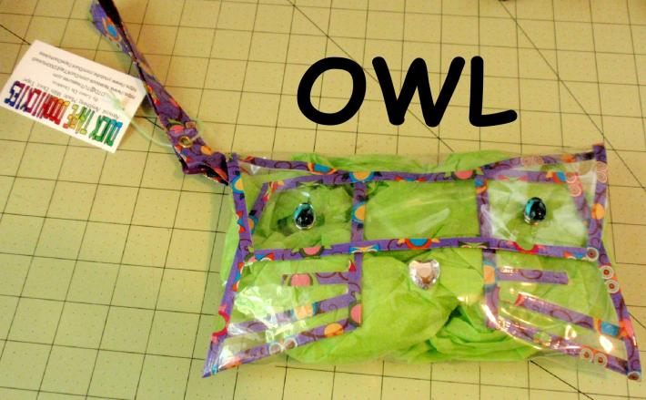 NFL Approved Clear Handbag Clutch Purse Wristlet Kitties and Owls VersionCustom