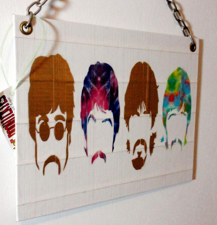 Duck Tape Art Painting Duct Tape Painting Art Retro Beatles Silhouettes