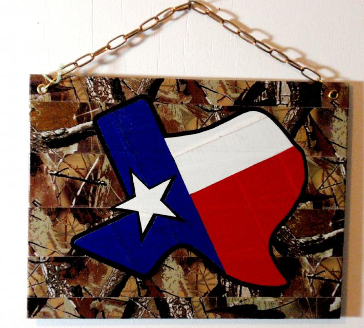 Duck Tape Art Painting Duct Tape Painting Art Camo Texas Pride Perfect for a Man Cave