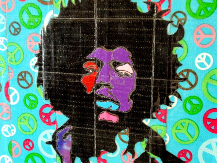 Duck Tape Art Painting Duct Tape Painting Art Peace Out Jimi Hendrix
