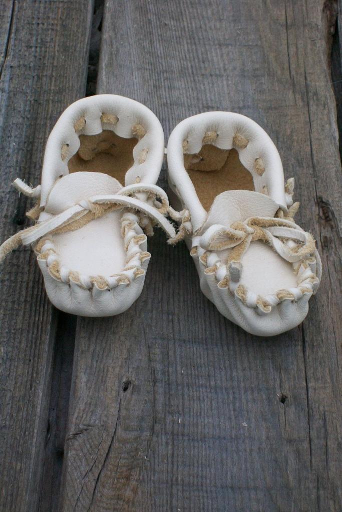 Baby moccasins  Buckskin leather moccasins Toddler moccasins