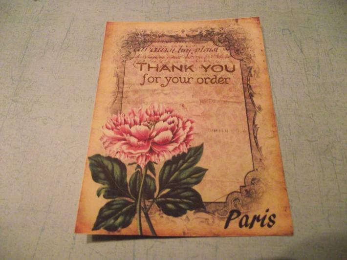Shabby Chic  Thank You Cards