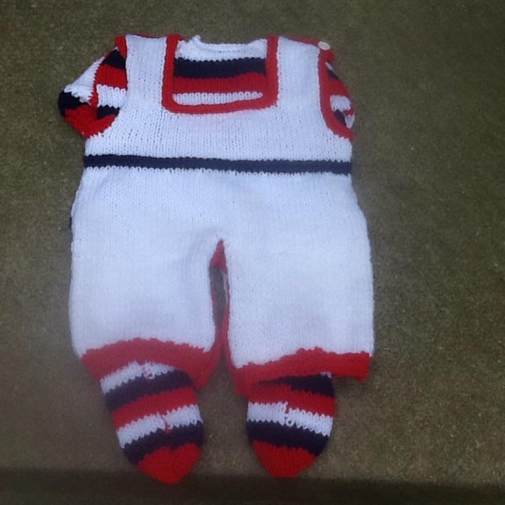 Newborn patriotic coverall set