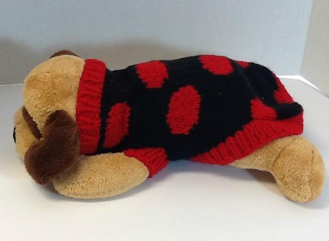 Petite lady bug dog sweater