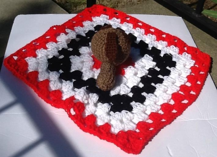 Puppy lovie blanket crocheted puppy security blanket