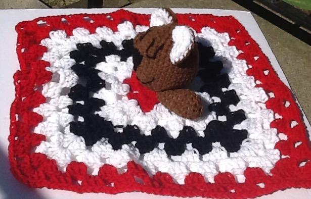 Brown bear security blanket