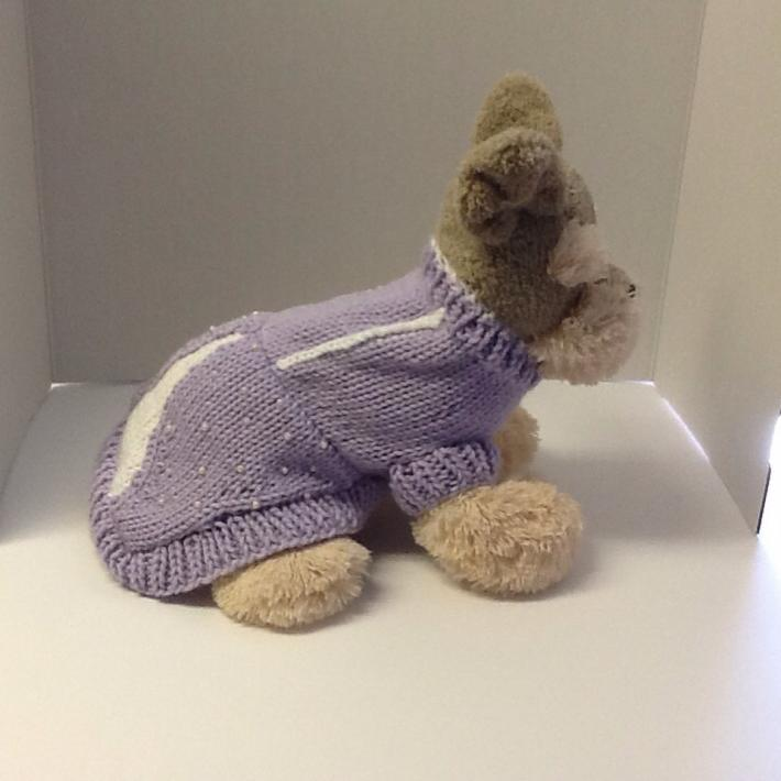 Lavender petite princess dog sweater